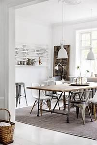 salle a manger beige et gris With salle À manger contemporaineavec table salle a manger blanche et bois