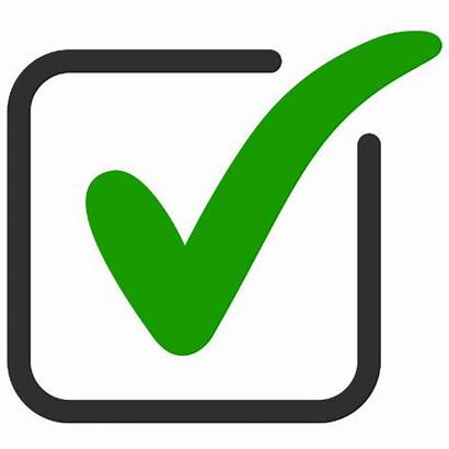 Tick Check Icon Approved Square Vector Ok