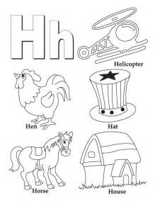 Coloring Pages with Letter H
