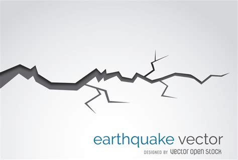 Earthquake Crack Illustration Download De Vetor Gratuito