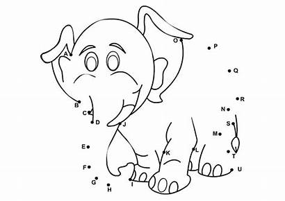 Worksheets Connect Elephant Dots Abc Printable Alphabet