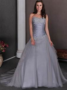 2015 cheap silver grey ball gown princess wedding dresses With silver grey wedding dress