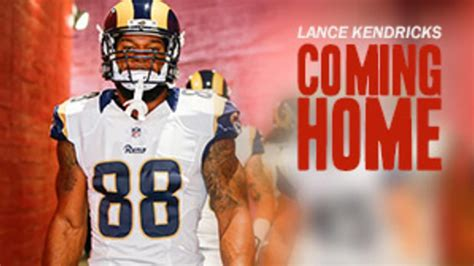 Lance Kendricks excited to come home