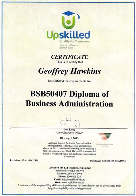 business management diplomas certificate templates