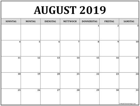 august kalender zum ausdrucken