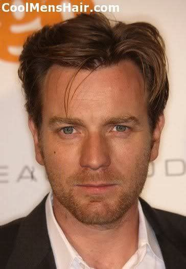 mens parted hair styles ewan mcgregor hairstyles textured spiky formal and 6114