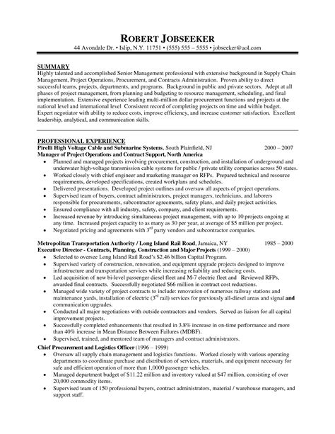 Manager Skills Resume Sle by Project Management Resume Executive Summary 28 Images