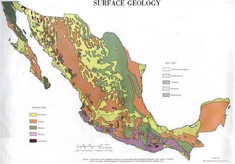 Mapa de Geología de Superficie, México
