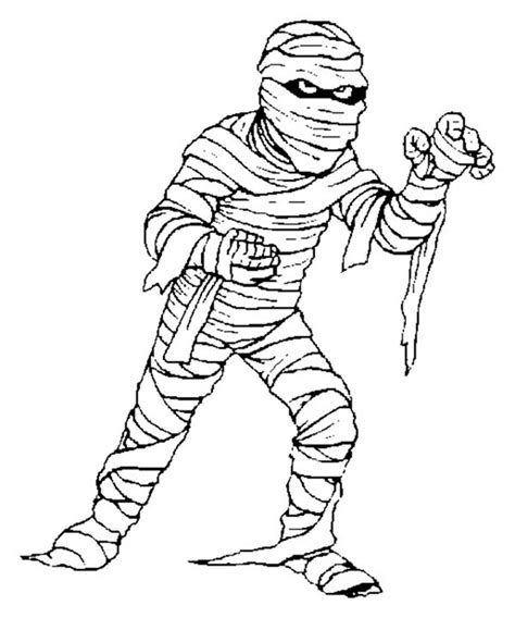 picture  scary mummy coloring page coloring sky