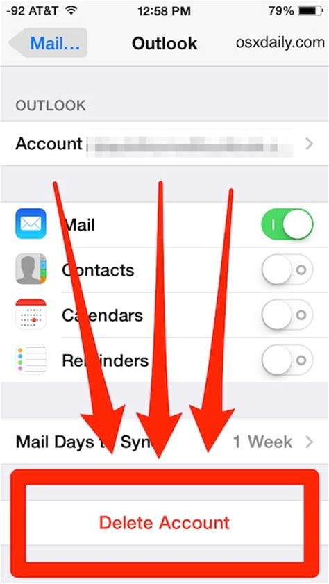 how do i delete an email account from my iphone iphone and remove an email account instant support
