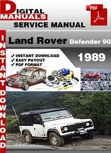 Land Rover Defender 90 1989 Factory Service Repair Manual