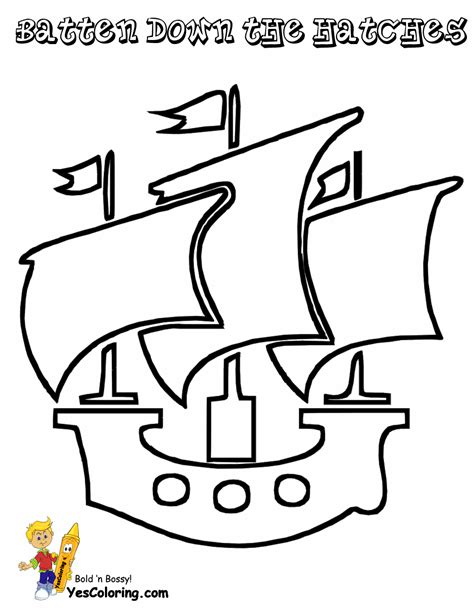 high seas pirate ship coloring pages pirate ship