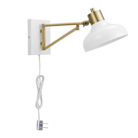 titan lighting pembroke 1 light brass swing arm wall tn 5991 the home depot