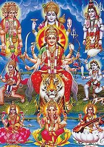 Durga Maa, Vishnu, Brahma, Shiva, Ganesh, Laxmi, Saraswati ...