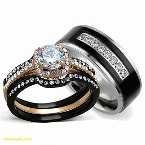 inspirational black wedding rings his and hers jewelry With his wedding ring