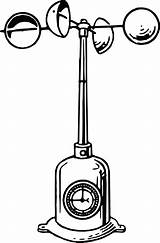 Anemometer Clipart Wind Drawing Speed Cup Instrument Measuring Line Meteorological Meteorology Hemispherical Measure Drawings Vector Weather Area Instruments Graphic Kisscc0 sketch template
