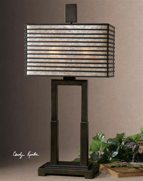 uttermost oil rubbed bronze becton modern metal table lamp
