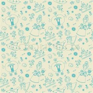 Vector seamless background. Seamless pattern. Cinderella ...