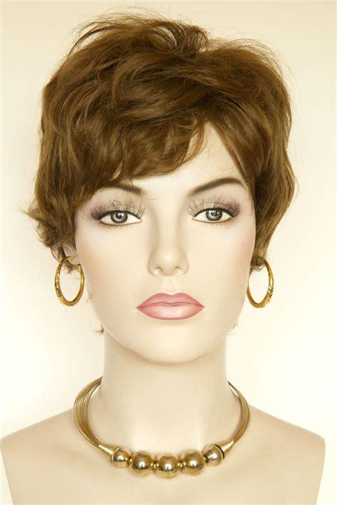 light brown wig light gold reddish brown human hair