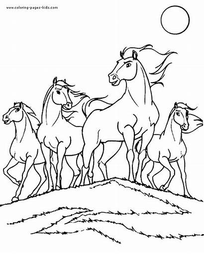 Horse Coloring Pages Horses Printable Colouring Sheets