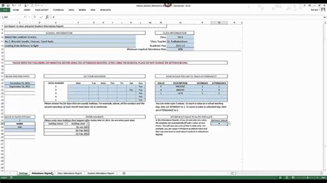 student attendance register excel template  product