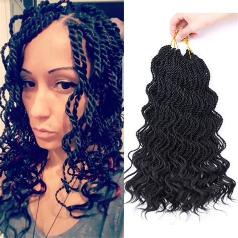 Curly Hairstyles With Twist by 14 Quot Senegalese Twist Hair Crochet Braids Curly Hair