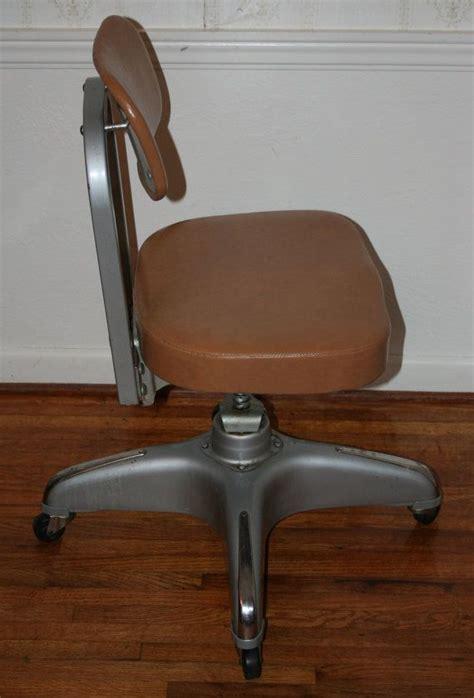 Vintage Industrial Cole Steel Office Chair Vinyl