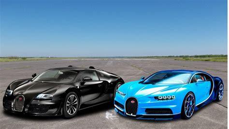 Bugatti Veyron And Chiron by Drag Race Bugatti Veyron Vs Bugatti Chiron