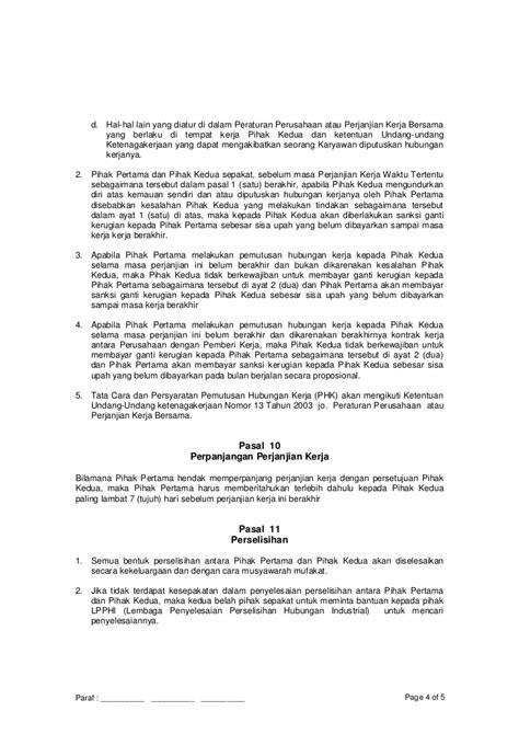 contoh surat perjanjian kerjasama usaha - Contoh Surat