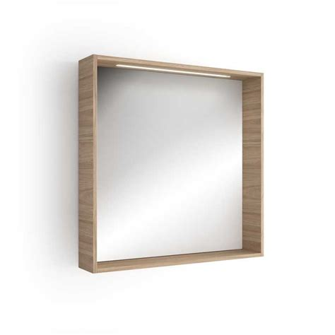 miroir lumineux led salle de bain 80x80 cm