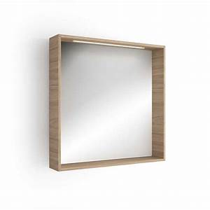 miroir lumineux led salle de bain 80x80 cm With miroir éclairant salle de bain