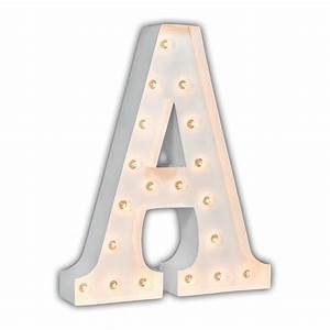 white 24 inch letter a marquee light by vintage marquee lights With lighted letter a