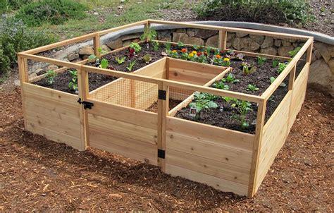 cedar raised garden bed kit gardening adventure fitness geekiness