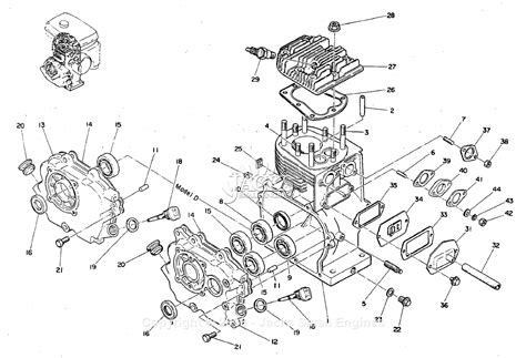 Robin Subaru Parts Diagram For Crankcase Cylinder Head