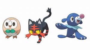 pokemon sun and moon starter final evolution types