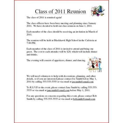 Class Reunion Invitation Examples
