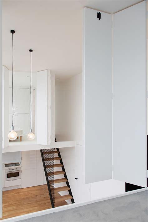 studio loft apartment  paris   symmetrical