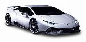 White Lamborghini Huracan Car Png Image