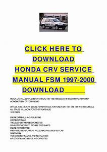 Honda Crv Service Manual Fsm 1997-2000 Download By Cycle Soft