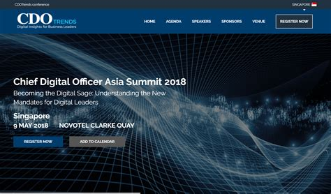 Chief Digital Officer Summit 2018 Singapore