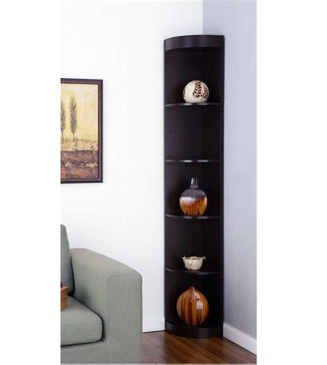 Corner Cabinet Bookcase by Corner Shelves Display Stand Rack Living Room Cabinet