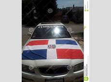 Dominican flag on car editorial stock image Image of