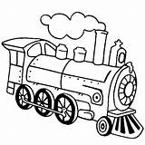 Train Steam Coloring Locomotive Engine Drawing Line Outline Simple Clipart Netart Clip Getdrawings Clipartmag sketch template