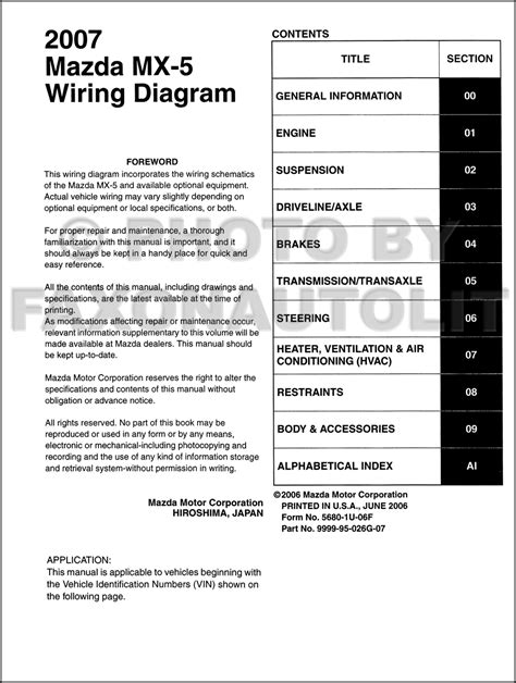 mx 5 wiring diagram pdf 2007 mazda mx 5 miata wiring diagram manual original