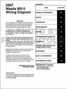 1997 Mazda Mx 5 Miata Wiring Diagram Manual Original
