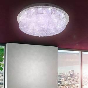 Kristall wand leuchte wohnzimmer decken lampe licht bunt for Lampe wohnzimmer led