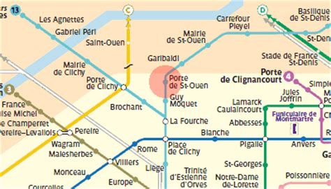 porte de ouen station map metro