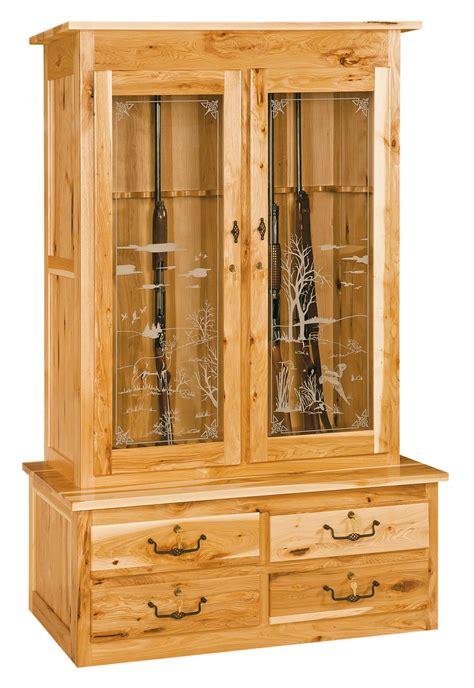 double door gun cabinet amish furniture store mankato mn