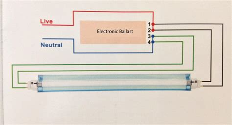 Electronic Ballast Wiring Diagram Fluorescent Light