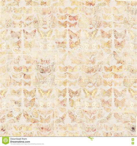 antique grungy vintage style botanical butterfly